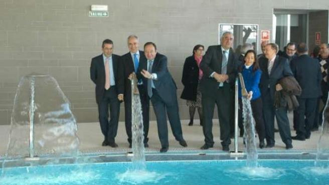 Inauguración del balneario de Grávalos