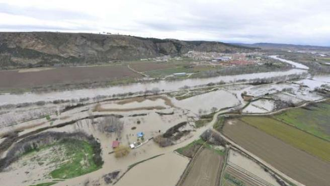 Imagen de las últimas inundaciones en Peralta.