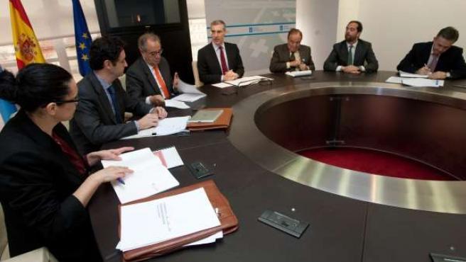 Francisco Conde manten unha reunion coa Asociacion Galega de Empresa Familiar po