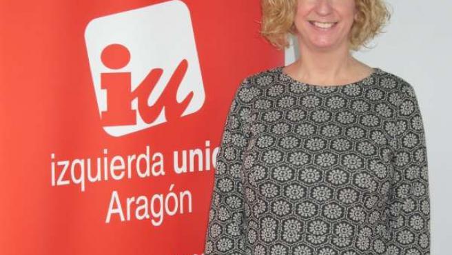 La responsable de Organización de IU-Aragón, Patricia Luquin