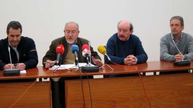 Comparecencia de José Valín y otros miembros de la CHD