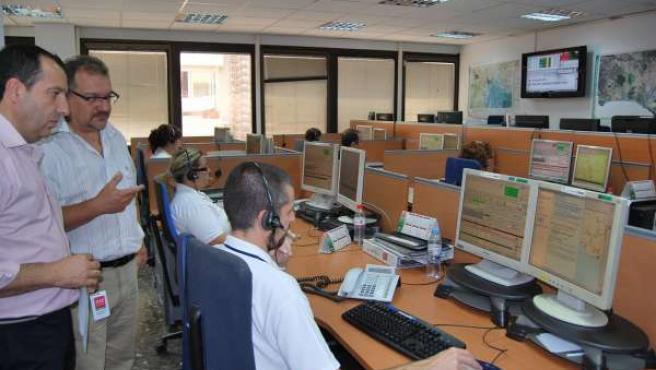 Ruiz Espejo con el Sistema Emergencias 112 Andalucía en Málaga