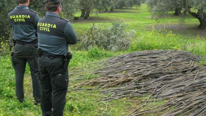 Cables de cobre recuperados en Baena