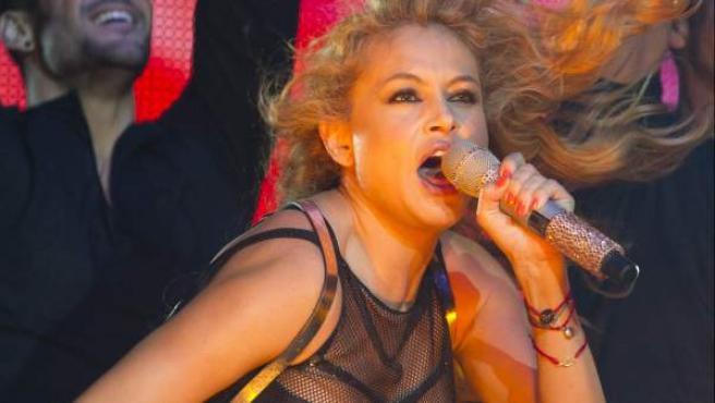 Paulina Rubio, durante uno de sus conciertos.