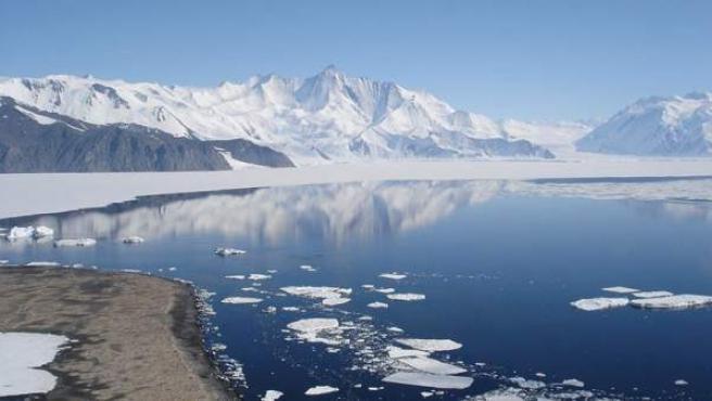 El monte Herschel, en la Antártida.