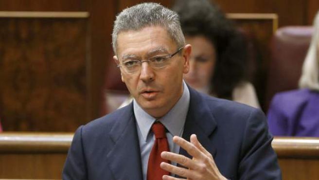 El ministro de Justicia, Alberto Ruiz Gallardón, en una imagen de archivo.