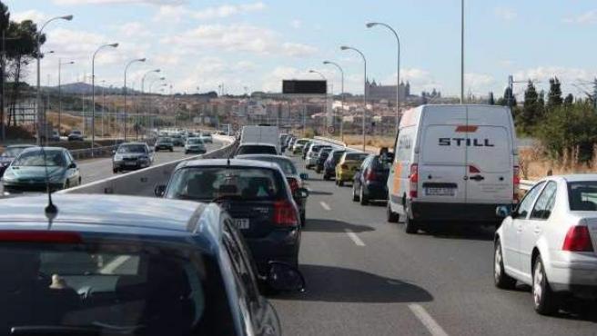 Tráfico en las carreteras.