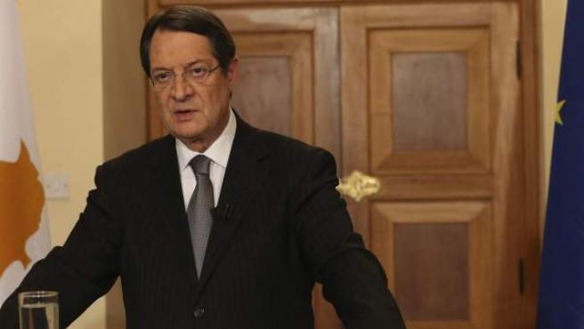 El presidente chipriota, Nikos Anastasiadis.
