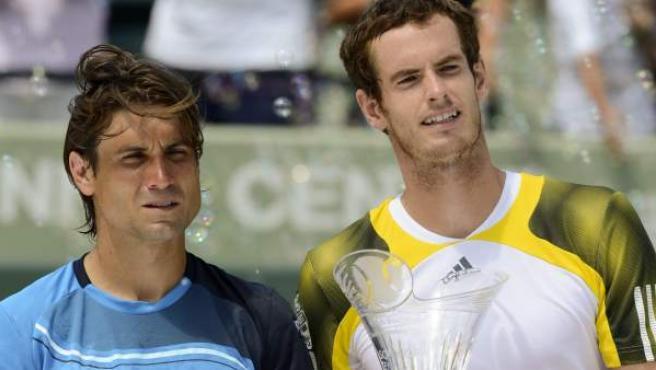 Ferrer y Murray, tras la final del Masters 1000 de Miami.