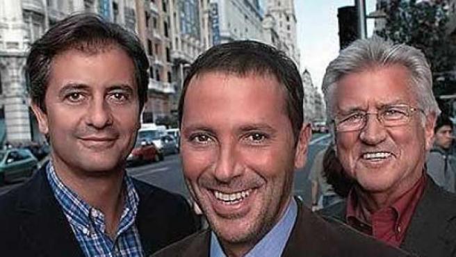 Manolo Lama, Paco González y Pepe Domingo Castaño.