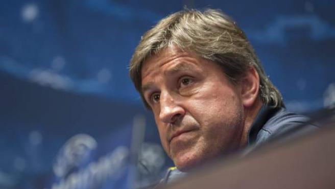 Jordi Roura, segundo entrenador del Barça, en rueda de prensa previa a la Champions.