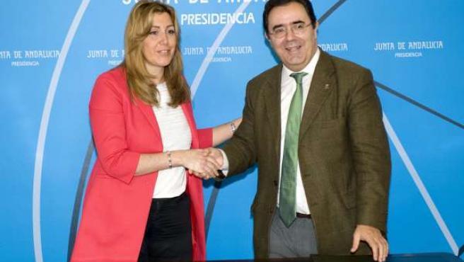 Susana Díaz y Vicente Guzmán, este lunes