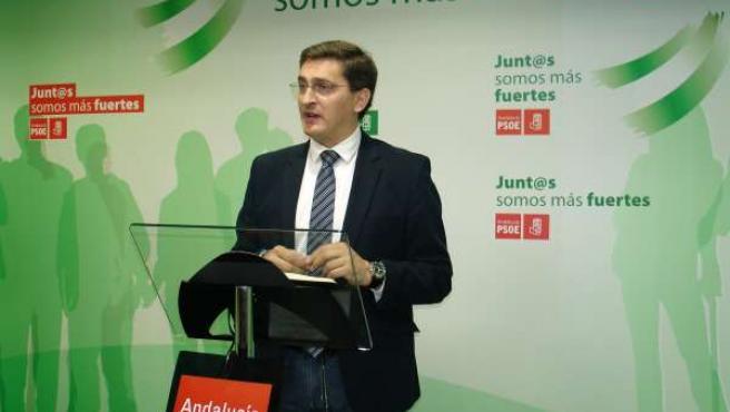 El secretario del PSOE de Almería, José Luis Sánchez Teruel