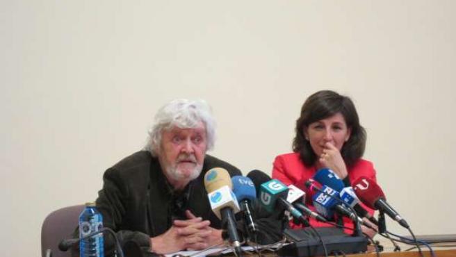 Xosé Manuel Beiras y Yolanda Díaz de AGE