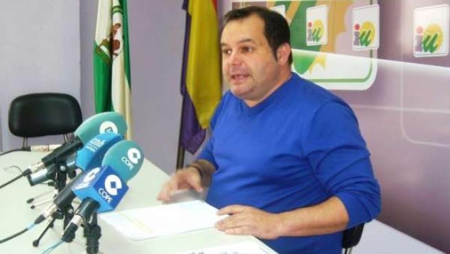 El portavoz de IULV-CA en la Diputación Provincial de Huelva, Rafael Sánchez.