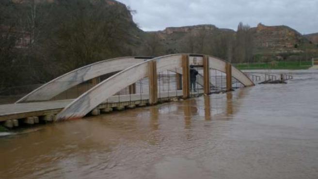 Zona inundada en Montejo de la Vega.