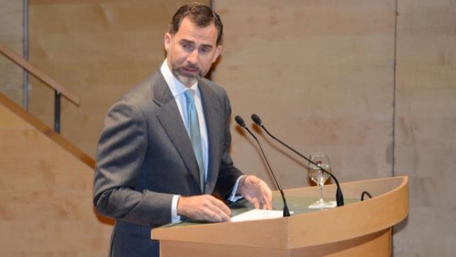 El príncipe Felipe, en un acto en Barcelona.