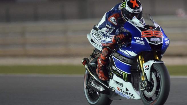 Jorge Lorenzo, en los libres del GP de Catar 2013.