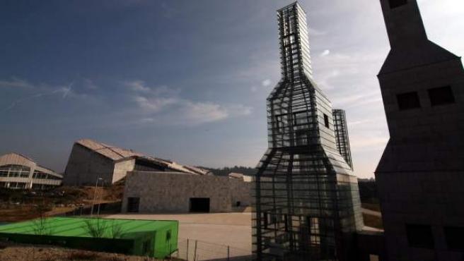 La Ciudad de la Cultura, ubicada en el monte Gaiás de Santiago de Compostela.