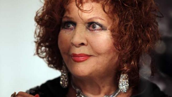 Sara Montiel en el homenaje 'One Night With Sara: 55 Years After The Last Torch Song', en el Instituto Cervantes de New York en 2012.