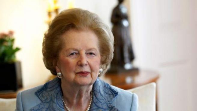 La ex primera ministra de Reino Unido, Margaret Thatcher, en una imagen de archivo.