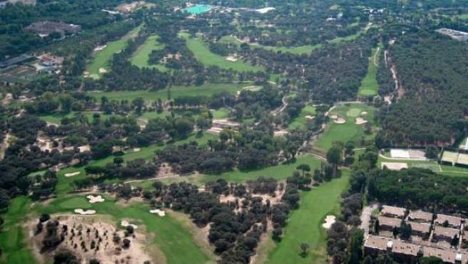 Vista aérea de las instalaciones del Club de Campo Villa de Madrid.