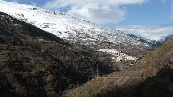 Una vista general de Trevélez, a sus casi 1.500 metros de altura.