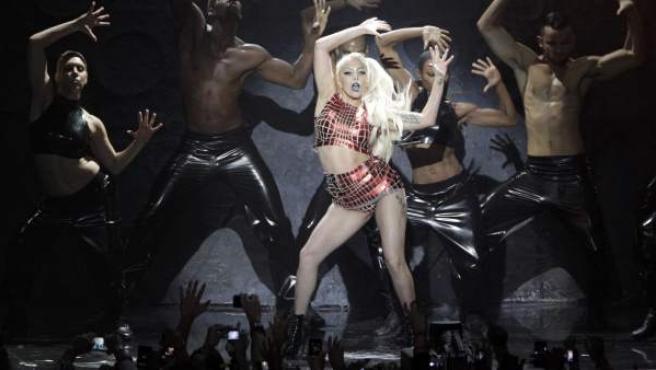 La cantante Lady Gaga en uno de sus conciertos.