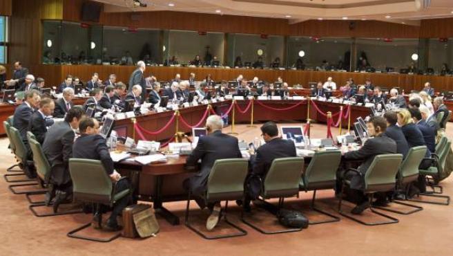 Fotografía facilitada por el Gobierno de Irlanda de la reunión informal de los ministros de Economía y Finanzas de la Unión Europea (Ecofin) en Dublín, Irlanda.