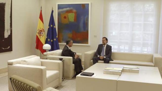 El presidente del Gobierno, Mariano Rajoy, en una reunión oficial con el lehendakari vasco, Iñigo Urkullu.