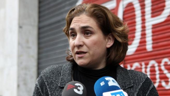 La portavoz de la Plataforma de Afectados por la Hipoteca (PAH), Ada Colau