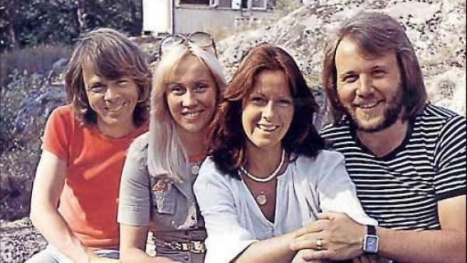 Imagen de archivo del grupo sueco Abba.