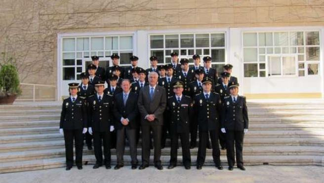 Antonio Suárez y los nuevos policías