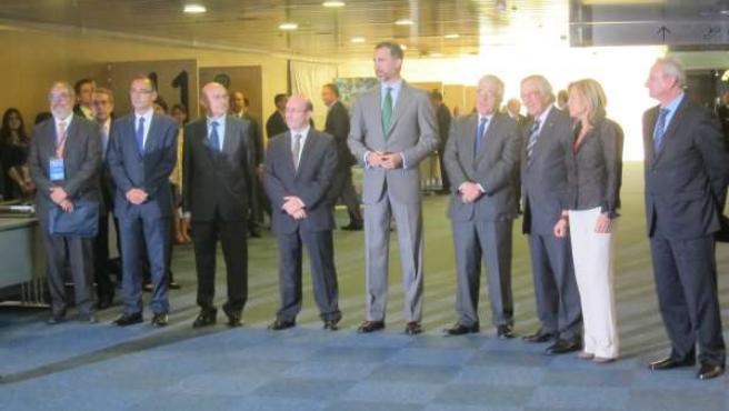 El Príncipe, junto a otras autoridades, en el Foro Europeo Juristas