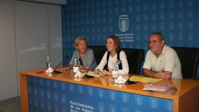 Anne Breton Noyon, Carolina León y Saturnino Quesada