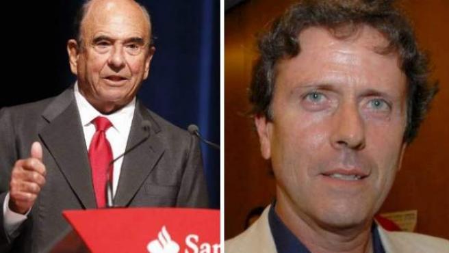 El médico imputado en la Operación Puerto, Eufemiano Fuentes, y el presidente del Banco Santander, Emilio Botín, dos de los presuntos evasores fiscales que aparecen en la 'lista Falciani'.