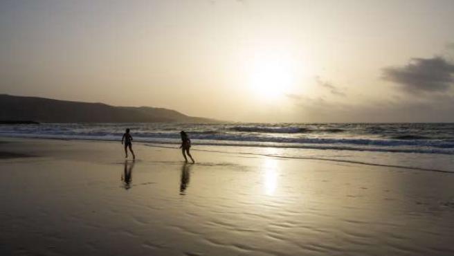 Playa de San Agustín, en la zona turística del sur de Gran Canaria