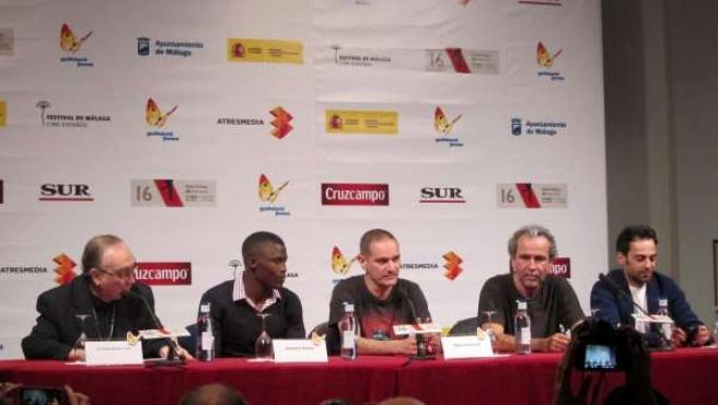 Equipo de la película 'Diamates negros' en el Festival de Málaga