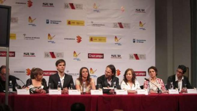 Equipo de 'La Estrella' en el Festival de Málaga
