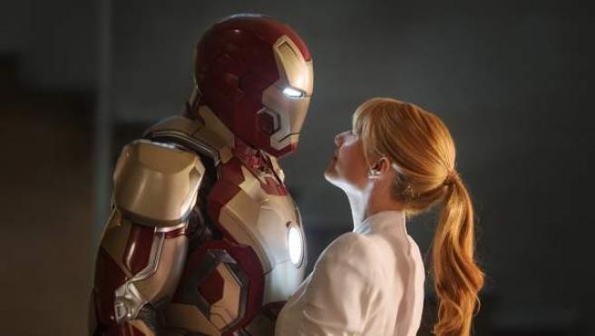 Imagen de la película 'Iron Man 3', protagonizada por Robert Downey Jr. y Gwyneth Paltrow.