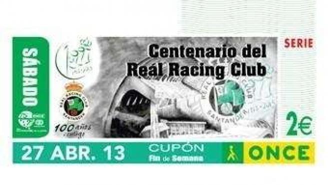 Cupón ONCE centenario Racing
