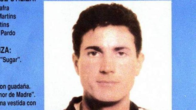 Fotografía de archivo datada el 23 de marzo de 1993 del cartel editado por el Ministerio del Interior para la búsqueda de Antonio Anglés Martíns.