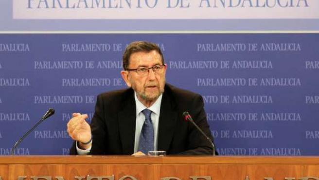 El presidente del Parlamento de Andalucía, Manuel Gracia