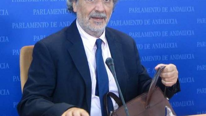 José Chamizo, En Rueda De Prensa En El Parlamento