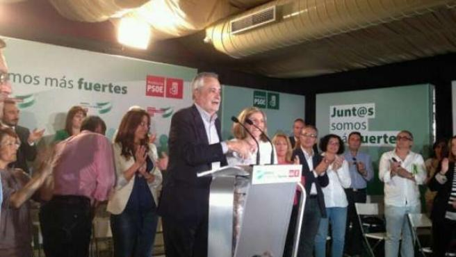 Griñán interviene ante el Comité Provincial del PSOE de Cádiz