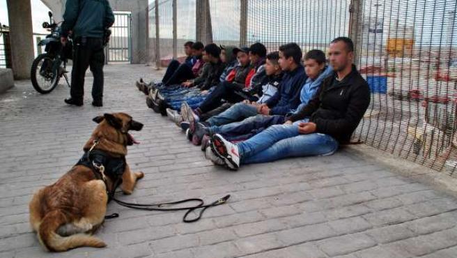 Supuestos polizones interceptados en Melilla