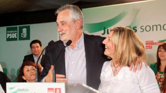 Griñán, junto a Irene García, en el Comité Provincial del PP de Cádiz