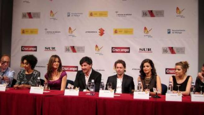 Equipo de la película 'Menú degustació' en el Festival de Cine de Málaga