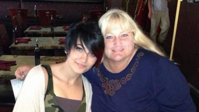 Paris Jackson y su madre, Debbie Rowe.