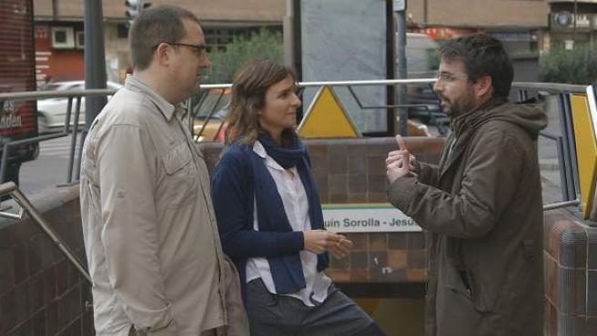 Una imagen del programa 'Salvados' de Jordi Évole dedicado al accidente del Metro de Valencia.